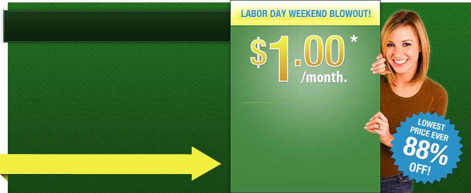 iPage 88% OFF Promo – $1/mo for Labor DAY
